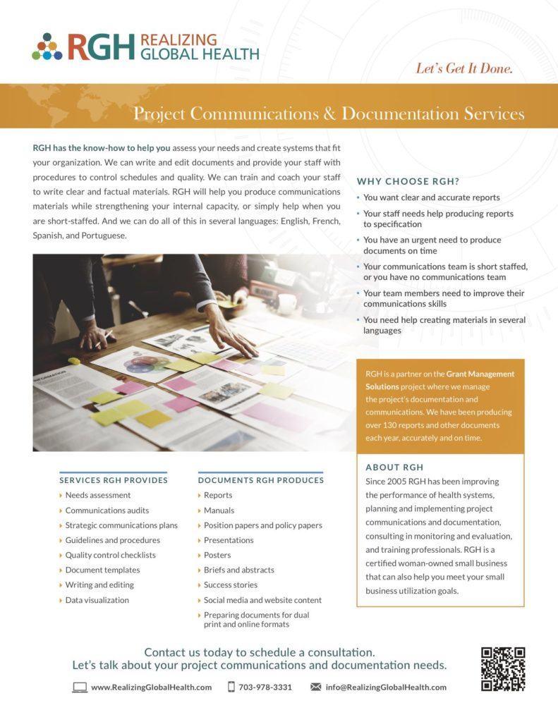 RGH_Communications and Documentation Services