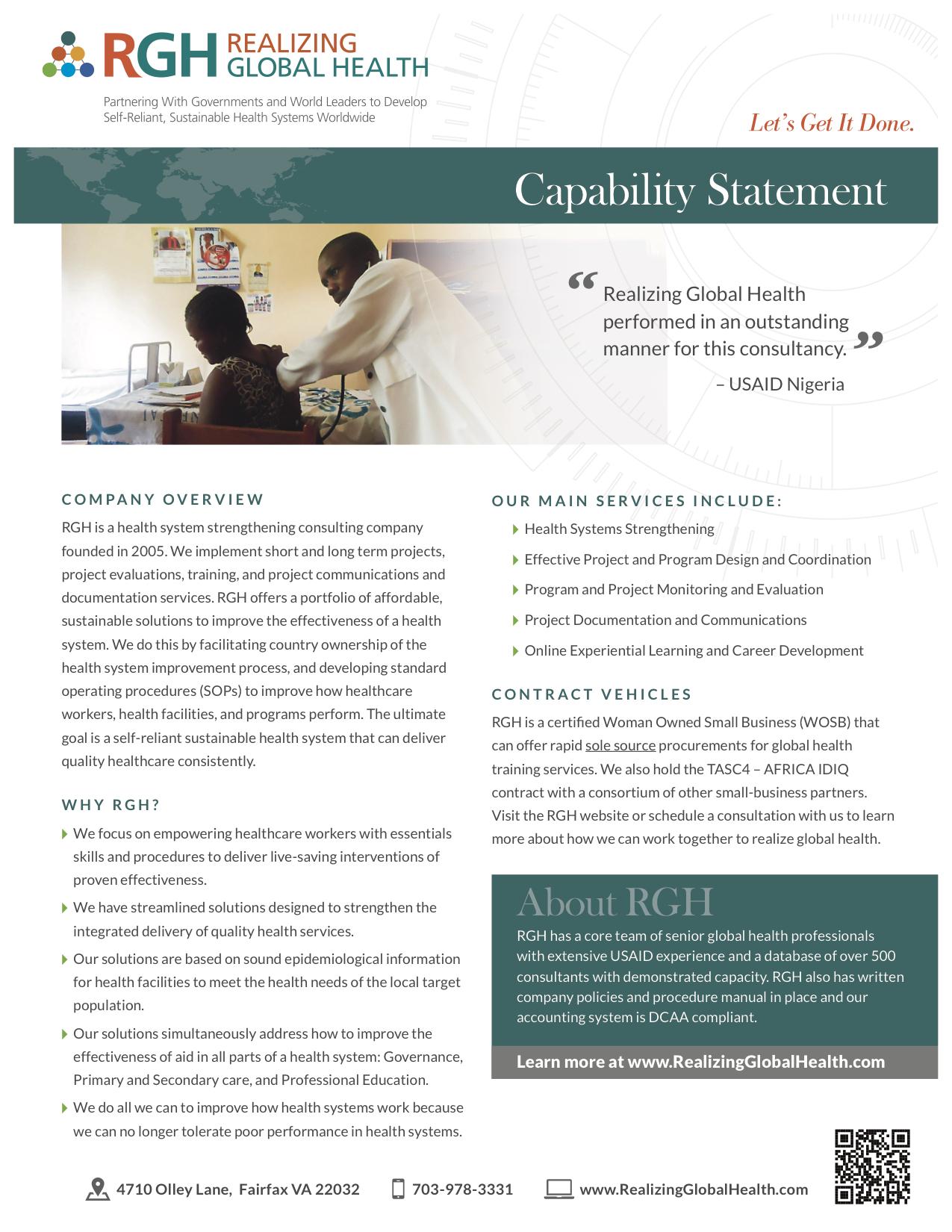RGH CapStatement